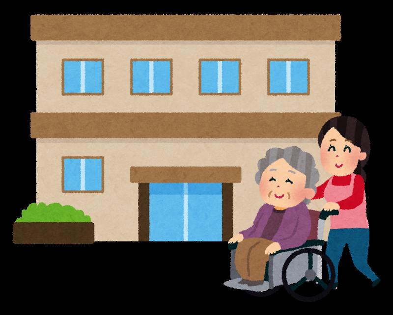 介護を必要とする人と施設